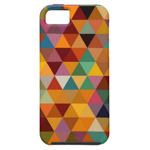Fondo del modelo de los triángulos del vintage iPhone 5 carcasas