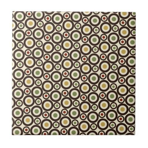 Fondo del modelo del círculo azulejos cerámicos