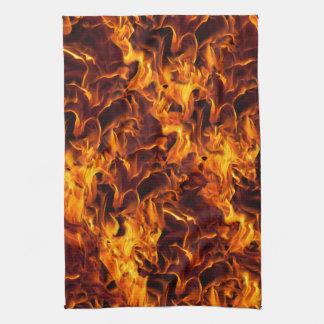 Fondo del modelo del fuego/de la llama toalla de mano