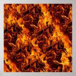 Fondo del modelo del fuego/de la llama poster