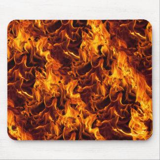 Fondo del modelo del fuego/de la llama alfombrillas de raton