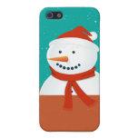Fondo del muñeco de nieve del invierno iPhone 5 carcasa