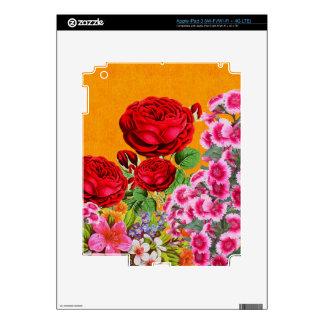 Fondo del naranja de la rosaleda iPad 3 skins