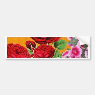 Fondo del naranja de la rosaleda pegatina para auto