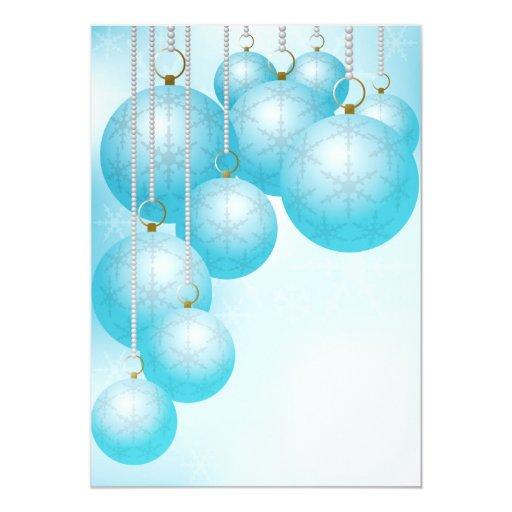Fondo del navidad invitación 12,7 x 17,8 cm