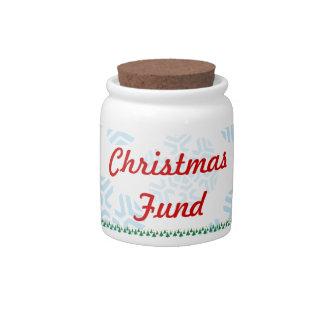 Fondo del navidad plato para caramelo