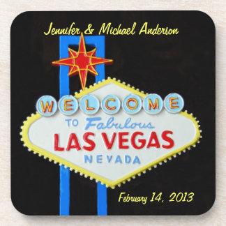 Fondo del negro de la muestra de Las Vegas Posavasos