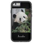 fondo del negro de la panda gigante del caso del funda de iPhone 6 tough xtreme