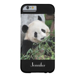 fondo del negro de la panda gigante del caso del funda barely there iPhone 6