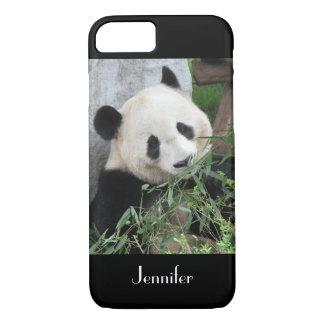 fondo del negro de la panda gigante del caso del funda iPhone 7
