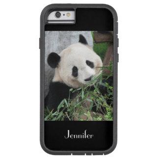 fondo del negro de la panda gigante del caso del funda tough xtreme iPhone 6