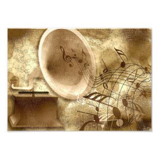 Fondo del oro con la impresión de la foto del cojinete