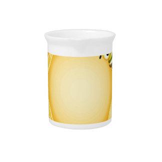 Fondo del panal con una abeja linda jarrones