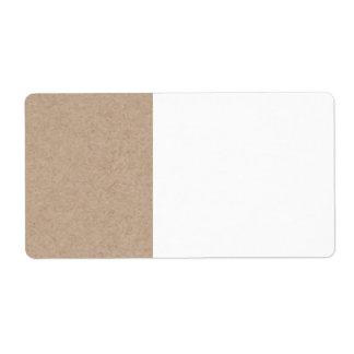 Fondo del papel de Brown Kraft impreso Etiquetas De Envío