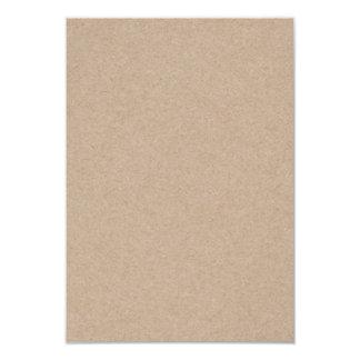 """Fondo del papel de Brown Kraft impreso Invitación 3.5"""" X 5"""""""