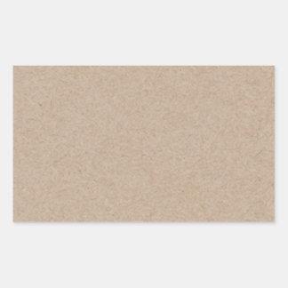 Fondo del papel de Brown Kraft impreso Pegatina Rectangular