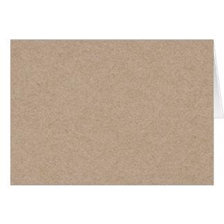Fondo del papel de Brown Kraft impreso Felicitación