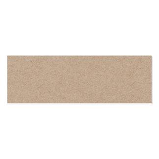 Fondo del papel de Brown Kraft impreso Tarjeta De Negocio