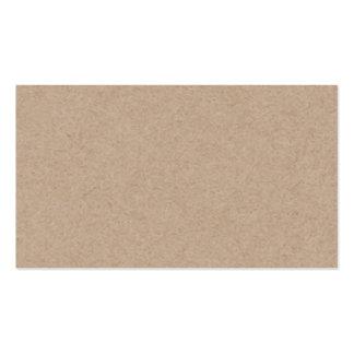 Fondo del papel de Brown Kraft impreso Tarjetas De Visita