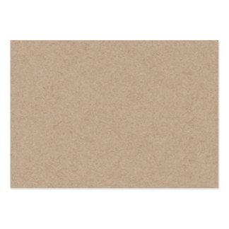 Fondo del papel de Brown Kraft impreso Tarjetas De Visita Grandes
