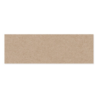 Fondo del papel de Brown Kraft impreso Tarjetas De Visita Mini