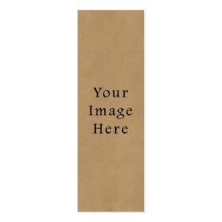 Fondo del papel de pergamino de Brown del ante del Tarjetas De Visita Mini