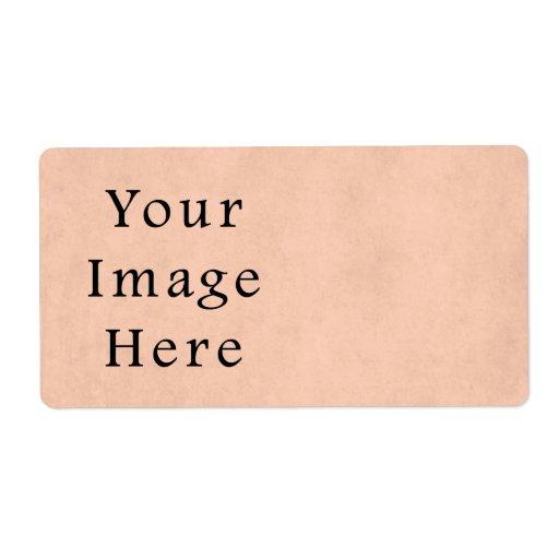Fondo del papel de pergamino del rosa del melocotó etiqueta de envío