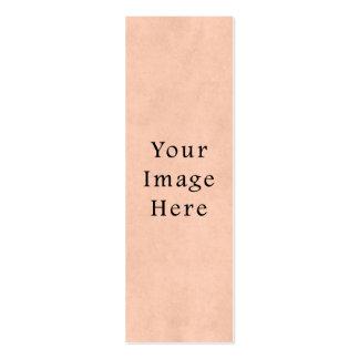 Fondo del papel de pergamino del rosa del melocotó tarjetas de visita mini