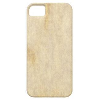 Fondo del papel de pergamino iPhone 5 carcasas