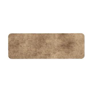 Fondo del pergamino o del papel del vintage modifi etiqueta de remite