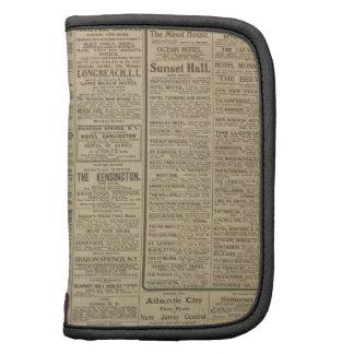Fondo del periódico del vintage planificador