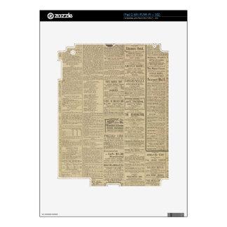Fondo del periódico del vintage skins para eliPad 2