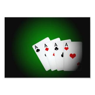 """Fondo del póker invitación 5"""" x 7"""""""