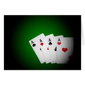 Fondo del póker tarjeta de felicitación