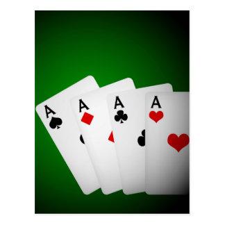 Fondo del póker tarjetas postales