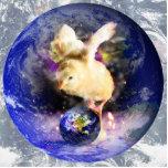 Fondo del polluelo W/Earth de la tierra Escultura Fotográfica
