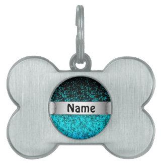 Fondo del polvo del brillo de la etiqueta del placa de mascota