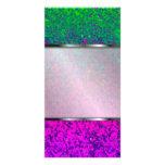 Fondo del polvo del brillo de la tarjeta de la fot plantilla para tarjeta de foto