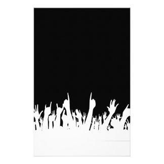Fondo del poster de la audiencia papelería personalizada