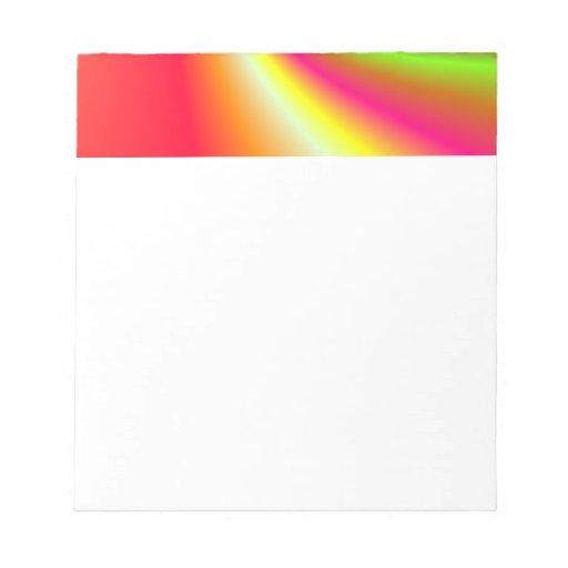 Fondo del remolino del arco iris bloc de papel
