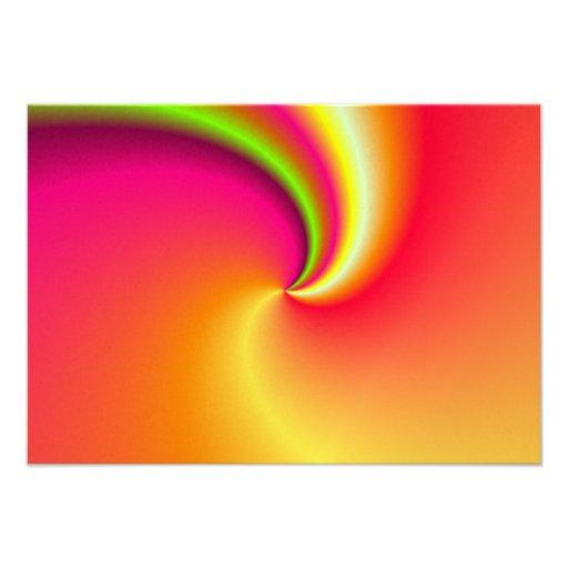 Fondo del remolino del arco iris invitaciones personalizada