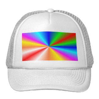 """Fondo del """"resplandor solar"""" del arco iris gorro de camionero"""