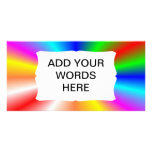 "Fondo del ""resplandor solar"" del arco iris tarjeta fotográfica"