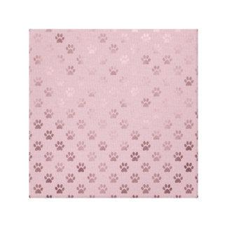 Fondo del rosa color de rosa del vintage de la impresión en lienzo