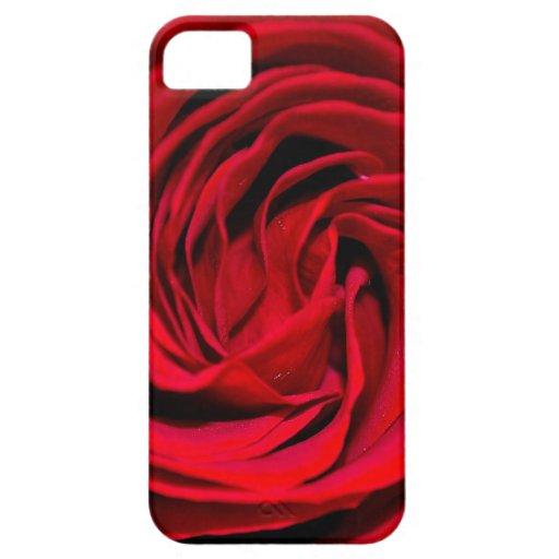 Fondo del rosa rojo funda para iPhone 5 barely there