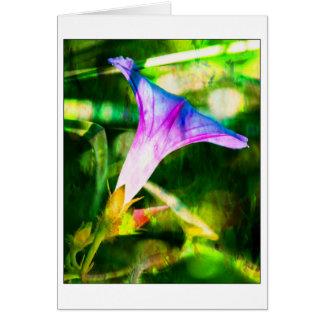 Fondo del verde de la flor de la correhuela tarjeta de felicitación