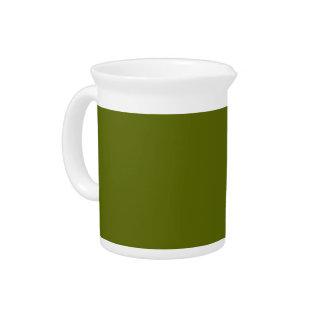 Fondo del verde verde oliva en una jarra