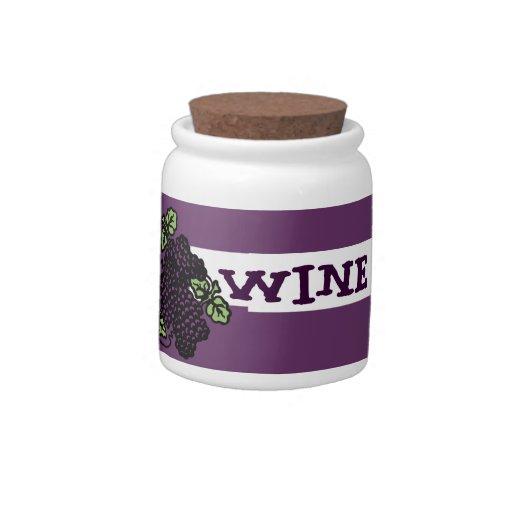 Fondo del vino (púrpura) jarras para caramelos