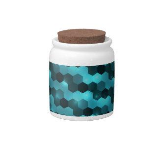 Fondo digital abstracto jarras para caramelos