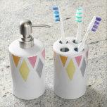 Fondo diseñado de la acuarela accesorios de baño